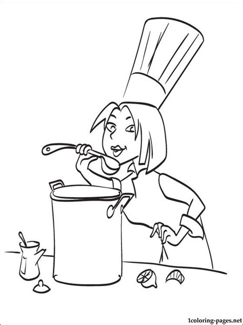 woman chef from ratatouille coloring stories coloring pages