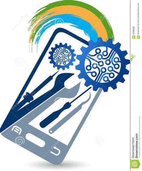 mobile services mobile service logo stock vector image 56988955