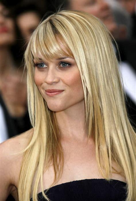 frisuren mittellang blond pony