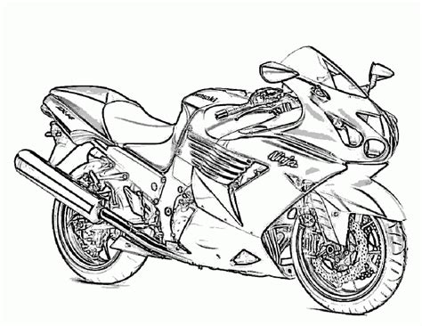 free printable motorcycle coloring pages for kids