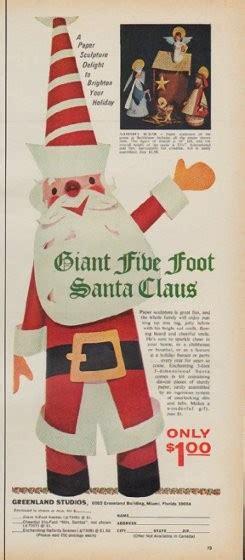 five foot santa claus 1971 greenland studios vintage ad quot five foot santa