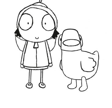 colour in sarah and duck make and colour cbeebies global