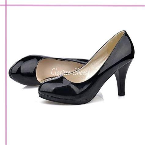 Heels Pantofel clarisse pantofel heels pesta moka hitam sepatu wanita hak