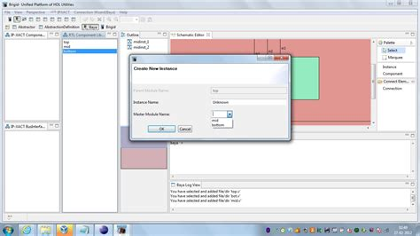 instantiate layout elements at runtime baya ip assembly tool