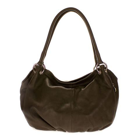 Barbar A2 Bags Bambalina Barbar Black cosette italian made moss brown soft leather slouchy hobo shoulder bag