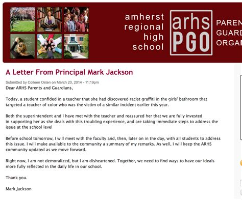 mark jackson arhs only in the republic of amherst racism continues arhs