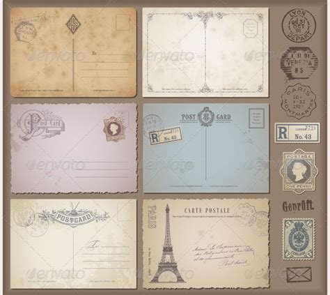 create post card template 35 best vintage postcard design templates for