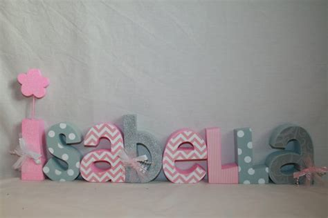 Items Similar To Decorative Wooden Nursery Letters 8 Decorating Wooden Letters For Nursery
