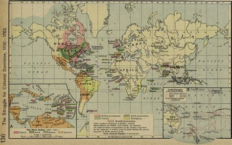 map us during 1700s world map 1700 1763 colonies