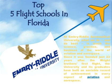 Top Mba In Aviation Management Colleges In India by Top 5 Flight Schools In Florida