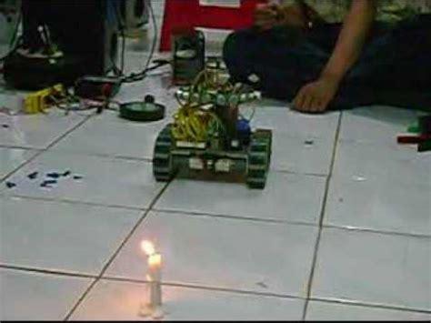 membuat robot pemadam api sederhana pembuatan robot pemadam api krci untar youtube
