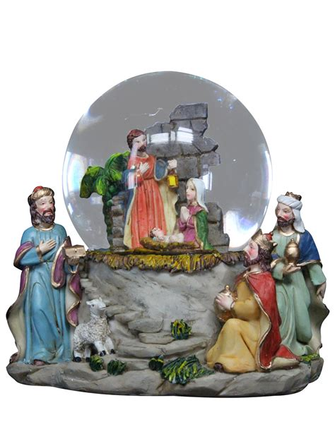gisela graham musical christmas snow globe xmas decoration