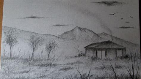 imagenes de paisajes que se puedan dibujar c 243 mo dibujar un simple y r 225 pido paisaje a l 225 piz paso a