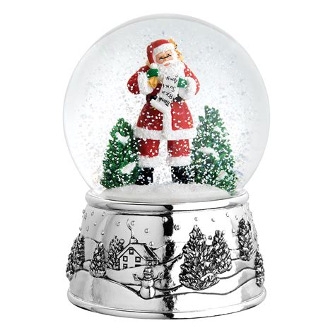 reed barton classic christmas snowglobe reviews wayfair