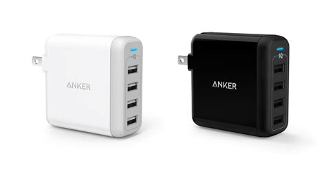 anker powerport 4 40w 4 port usb wall charger tools