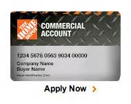 home depot credit card services commercial credit card