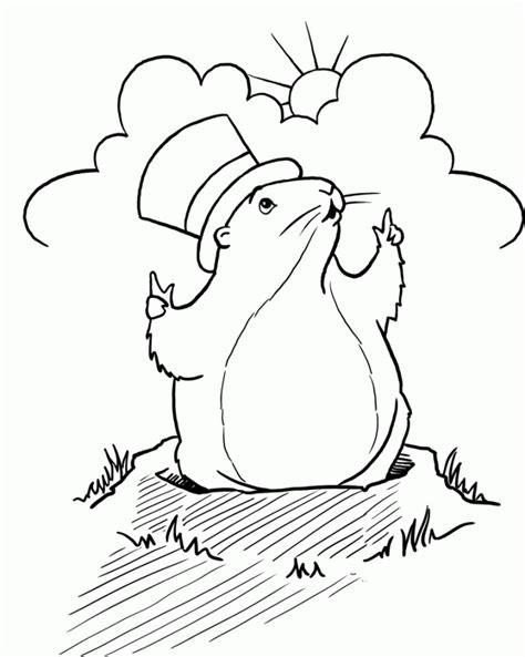 Groundhog Coloring Pages To Print
