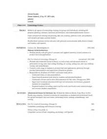 Cosmetologist Description Resume beautician description 12 sle resume cosmetology