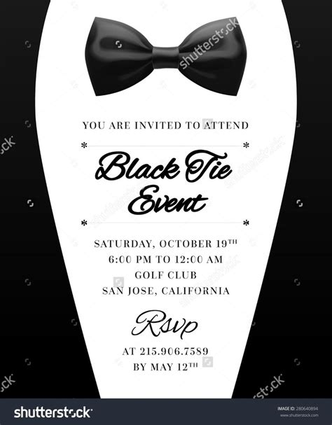 Black Tie Event Program Template Black Tie Invitation Template Free Templates Resume Exles Jry4nrqgbe