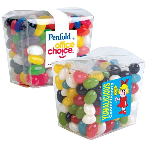 Jelly Mini 008 jelly beans mini clear noodle boxes jelly beans fast confectionery