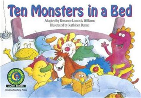 ten in the bed book ten monsters in a bed by rozanne lanczak williams