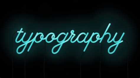 neon light letters font neon typography by will really cursive