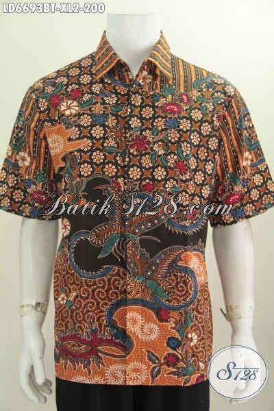 Baju Kerja Xl baju kerja batik untuk pria hem batik motif mewah furing lengan pendek kombinasi tulis