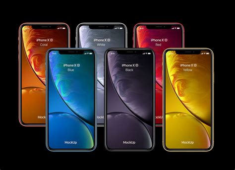 iphone xr yellow white black red coral blue