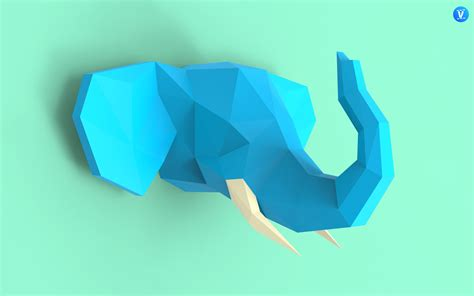 elephant head 3 papercraft pdf pack 3d paper sculpture