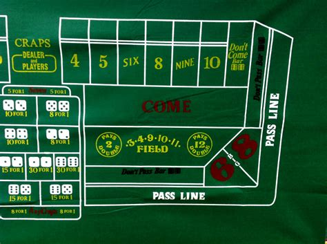 layout new casino style craps 36 quot x 72 quot great for home