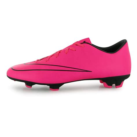 pink football shoes nike mercurial victory fg firm ground football boots mens