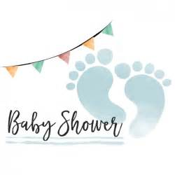 watercolor baby shower card for boy vector free