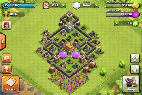coc map layout th6 clash of clans best layout level 6