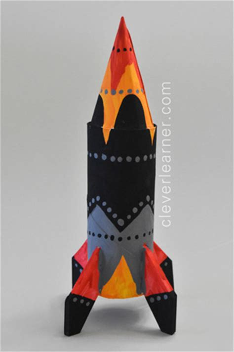 how to make space how to make a space rocket craft art for children