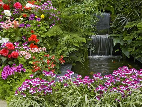 Beautiful Flower Gardens Waterfalls Bc Butchart Gardens Bc Flower Garden