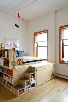 Exploring Tiny House Living Loft Style Bunk Bed 1000 Ideas About Elevated Bed On Bed Frame