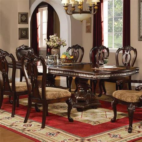 traditional formal dining room furniture acme furniture anondale traditional formal dining table