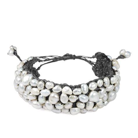 Handmade Hemp Bracelets - mod handmade genuine white fw pearl hemp bracelet ebay