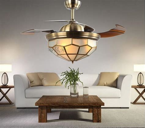 dining room ceiling fan stealth 42inch fans dimmer led european bronze chandelier
