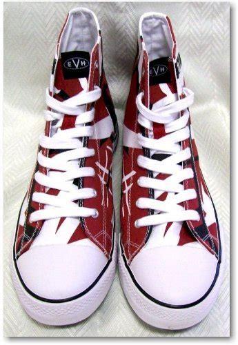 eddie van halen red high tops best price evh eddie van halen high top sneakers red black