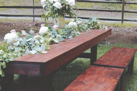 wedding benches for rent farmhouse table rentals for weddings showers or any