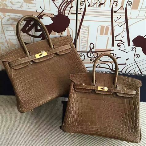 Promo Hermes Tanggal Brown Discount Hermes Brown Crocodile Matt Leather Birkin Bag