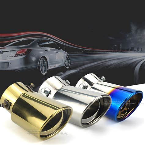 Sticker Stainless Tipis Jp car stainless steel rear dual exhaust end pipe sticker cover trim for cadillac xt5 2017 sibdip ru