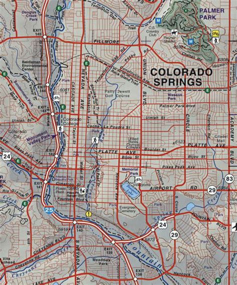 colorado springs routes map colorado springs bike trail map my