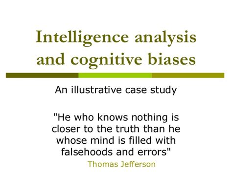 how to analyze how to analyze and cognitive behavioral therapy books intelligence analysis cognitive biases an illustrative