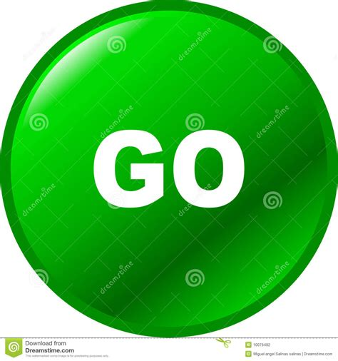 go go go vector green button stock photography image 10076482
