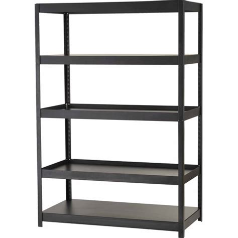 edsal 5 shelf steel shelving unit black mr482472blb