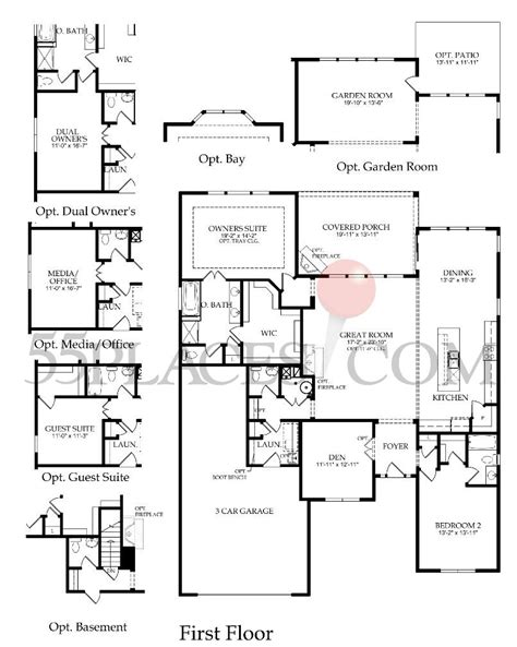 washington floor plan washington floorplan 2274 sq ft edgewater 55places com