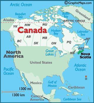 nova scotia map / geography of nova scotia / map of nova