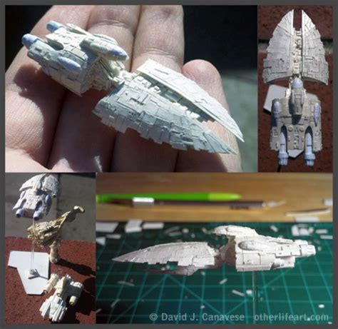 Wars Papercraft Models - tiny wars papercraft models fit on a fingertip